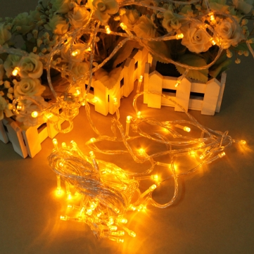 10M 100 LEDs Yellow String Decoration Lights ** Free Shipping **