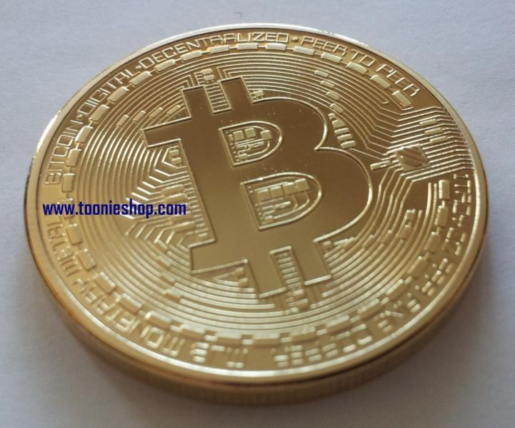 Gold Plated Physical BITCOIN ** Free Shipping **