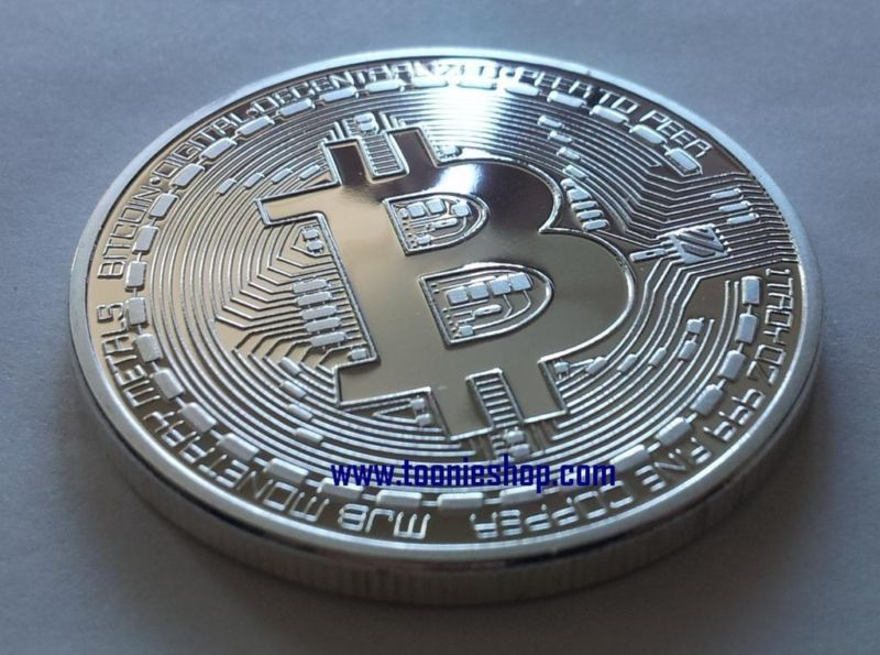Silver Plated Physical BITCOIN ** Free Shipping **