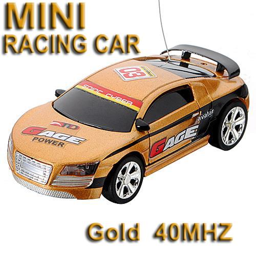 40MHz Gold Micro RC Radio Control Racing Car **Free Shipping**