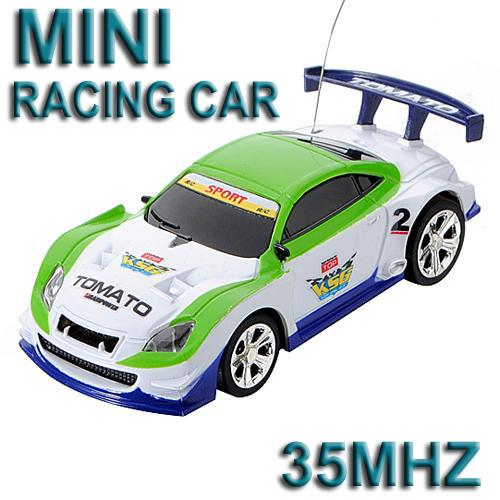 35MHz White Micro RC Radio Control Racing Car **Free Shipping**