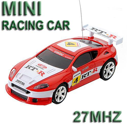 27MHz Red Micro RC Radio Control Racing Car **Free Shipping**